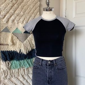Silence + Noise Ribbed Crop Top